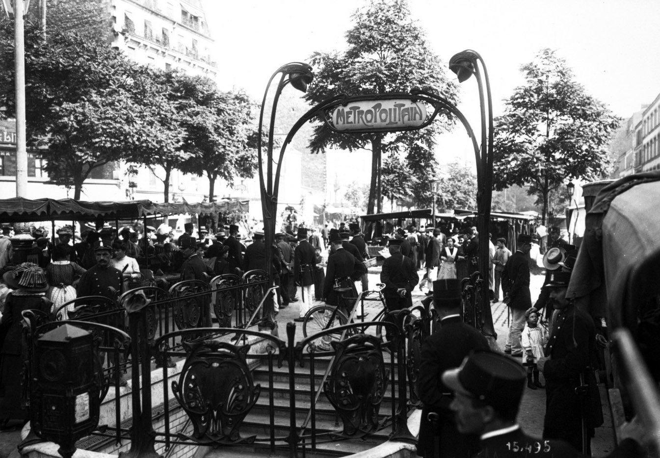 Bahnhof Couronnes, Paris, 1911, Photographique Agence Rol., Bibliothèque nationale de France, No Copyright - Other Known Legal Restrictions